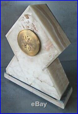 1920's PARISIAN ART DECO CLOCK A LA RENAISSANCE MARBLE MANTEL CLOCK 16 H