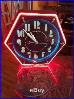 1930, s Art Deco Neon Clock