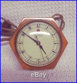 1930's Art Deco Telechron DAPHNE Butterscotch Catalin/Bakelite Table Clock