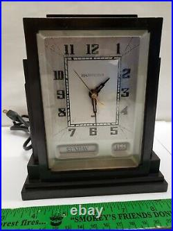 1930's HAMMOND Art Deco SKYSCRAPER Bakelite Calendar Shelf Clock Antique Working