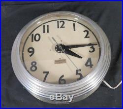 1930s Neon Clock ELECTRIC NEON CLOCK CO Cleveland Ohio SMALL SIZE METAL Art Deco