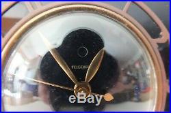 1930s Telechron model 4H77 Deauville Art Deco Rare black glass and gold clock