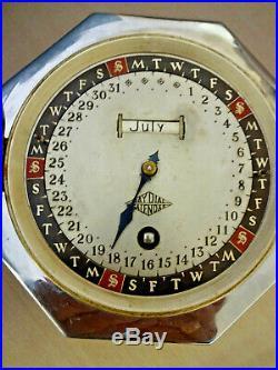 1930s WINTERHALDER & HOFMEIER DAY DIAL CALENDAR DESK-TOP CLOCK