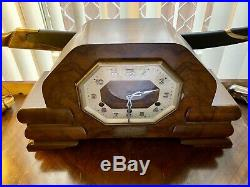 1938 Empire Art Deco Mantle Clock
