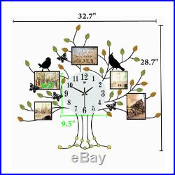 3D Large Family Tree Wall Clock Photo Frame Art Picture Decor 28.7L 32.7W