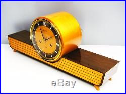 A Dream Beautiful Later Art Deco Junghans Chiming Mantel Clock From 50´s