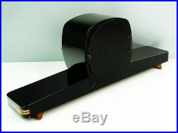 A Dream In Black Later Art Deco Chiming Mantel Clock From Junghans