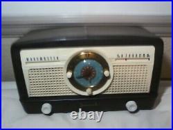 ART DECO BEAUTIFUL JEWEL RADIO/CLOCK. MINT CONDITION! 1940's VINTAGE