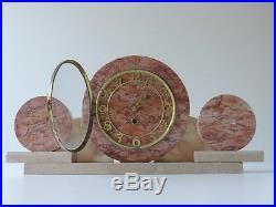 ART DECO KAMINUHR TISCHUHR UHR MARMOR 20er 30er FRENCH BELGIUM CLOCK MARBLE