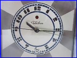 Art Deco Skyscraper Telechron Clock 1930 Model 431-b By Paul Frankl