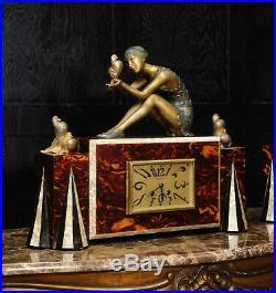 ART DECO stunning clock set French 8 day C1925