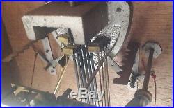 Ancien et rare carillon ODO n°36, 8 marteaux 6 tiges Art Déco Chime Clock
