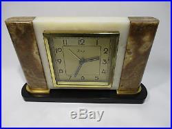 Ancienne Pendule Reveil Horloge Mecanique Dep Art Deco Clock Pendulum Orologio