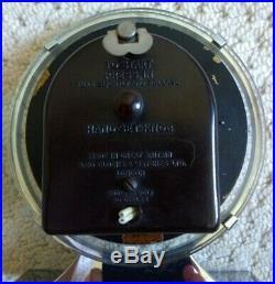 Antique 1930's Art Deco Chrome Mantel Piece Electric Clock ELCO CLOCKS & WATCHES