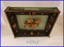 Antique 1940's FOUR ROSES Bourbon Whiskey Art Deco Bar Advertising Clock Sign