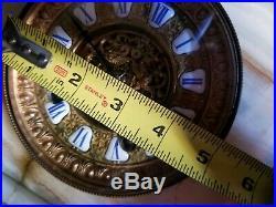 Antique 19th C Ansonia White Onyx Marble Mantle Clock Bronze Victorian 1880