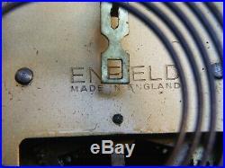 Antique Art Deco Clock Enfield Made iEngland Napoleon Hat Type Works Vnt. 1930's