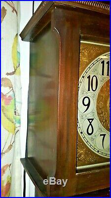 Antique / Art Deco Colonial Winterhalder Time+Strike Grandfather Clock C1920-30