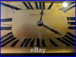 Antique Art Deco Henry Birks FRANCE Aguilles Marble Brass Clock + Garnitures