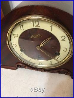 Antique Art Deco Junghans Westminter Chime Tambour Mantle Clock