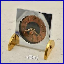 Antique B. Altman & Co. French Art-Deco manual wind-up desk bedside alarm clock