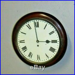 Antique English G. P. O. Post Office Chain Fusee 8 Day Wall Clock England Working