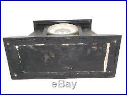 Antique French Egyptian Revival Black Marble Art Deco Shelf Clock