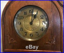 Antique German Grandfather Clock Marked Amuf Beautiful Art Deco Condition