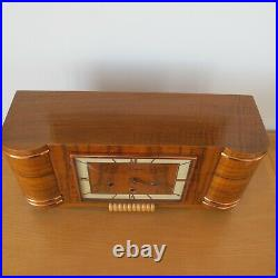 Antique Large French Art Deco VEDETTE Westminster Mantle Table Clock 8-day