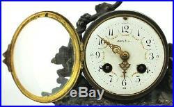 Antique Louis Francois Moreau French Garniture 22.5 High Clock Set