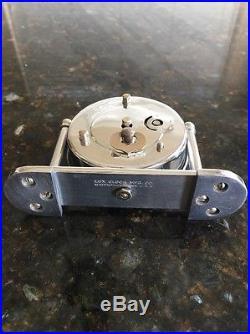 Antique Lux Clock Co. Art Deco Miniature Mantel C. 1933 Chrome Waterbury Conn. US
