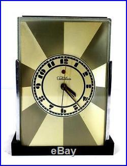 Antique Telechron No. 431 Modernique Art Deco Electric Clock by Paul Frankl