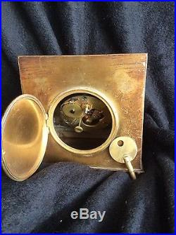 Antique Tiffany Brass Art Deco Clock