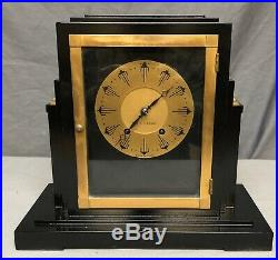 Antique Vintage Art Deco Seth Thomas Ritz SKYSCRAPER Mantle Clock