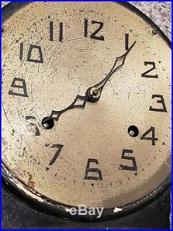 Antique Working 1920's NEW HAVEN Art Deco Round Top School Regulator Wall Clock