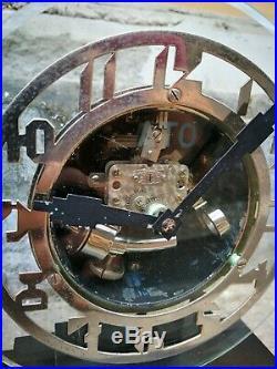 Antique art deco 1920 french Ato clock Hatot Glass bakelite