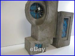 Aron Rosenberg Vintage Clock Sculpture Large Abstract Modernism Art Deco Cubist