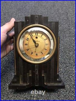 Art Deco 1930's Bakelite Skyscraper Telechron Electrolarm 700 Clock Needs TLC