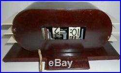 Art Deco 1948 Pennwood Numechron Imperial Vintage Bakelite Flip Clock