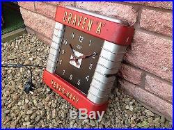 Art Deco Advertising Craven Cigarette Sign Clock (Original Smiths Clock)
