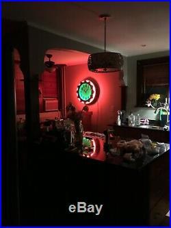 Art Deco American Aztec Neon Clock $2,750 (Electric Neon Clock Co. Cleveland)