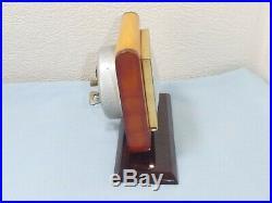 Art Deco Bakelite Bayard Clock Butterscotch Egg Yolk Amber Colour