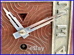 Art Deco Bakelite Jaz Skyscraper Clock French 1930 Uhr Kaminuhr Bakelit France