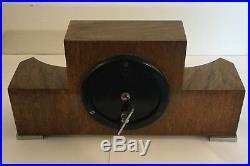 Art Deco Burr Walnut Clock By Elliot Clocks England