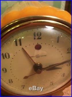 Art Deco Butterscotch Bakelite Catalin G E Alarm Clock Works-keeps Time