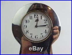 Art Deco Clock Sterling Silver Charles Green Birmingham 1921