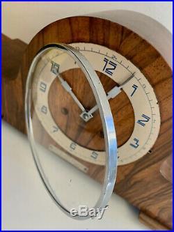 Art Deco Clock with pendulum and key Bauhaus 1933 serviced