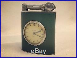 Art Deco Desk Lighter & Clock