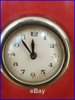 Art Deco French St Clement Rocket Clock with Garnitures