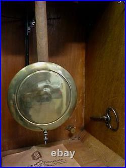 Art Deco French Walnut Wall Clock